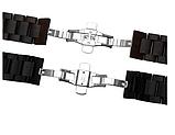 Браслет для Xiaomi Amazfit Stratos | Pace | GTR 47mm Ремешок 22 мм из дерева Черный от BeWatch (1020901), фото 4