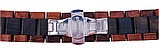 Браслет универсальный Ремешок  22мм из дерева с быстросъёмным креплением Коричнево - черный от BeWatch, фото 4
