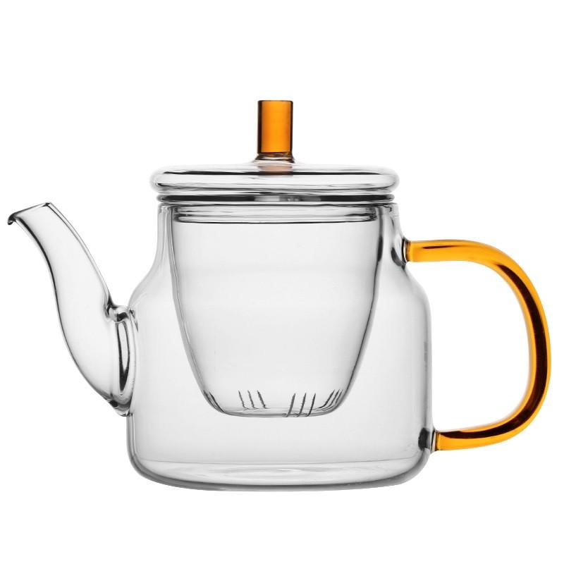 Стеклянный боросиликатный чайник 450 мл