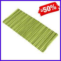 Коврик в ванную комнату Bathlux Green Leaves 40205 антискользящий резиновый 35х78 см, банный коврик для душа
