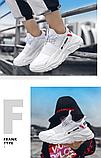 Кроссовки мужские белые FXXK Off, фото 5