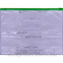 Папка на молнии А4, прозрачная, 8 мкм