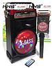 Беспроводная Bluetooth колонка X-BASS NS-1388BT NNS Портативная Bluetooth колонка со светомузыкой и микрофоном, фото 3