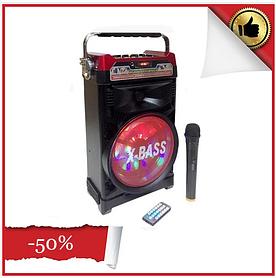 Беспроводная Bluetooth колонка X-BASS NS-1388BT NNS Портативная Bluetooth колонка со светомузыкой и микрофоном