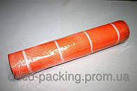 Оранжевая с белой нитью сетка для цветов FKF солома