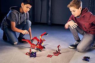 Мекард Дракон Драча Мега Машина-трансформер Mecard Mega Dracha Figure Mecardimal от Mattel оригинал США, фото 3
