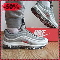 Мужские кроссовки серые Nike Air Max 97 Silver Bullet рефлектив