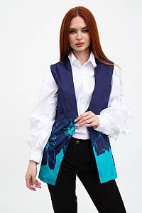 Жилет женский 115R253F цвет Сине-мятный
