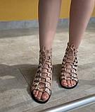 Босоніжки жіночі рожеві на шнурівці Б61, фото 5