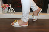 Шлепанцы женские белые силикон Б99, фото 4