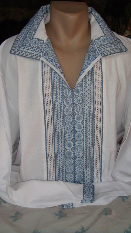 """Чоловіча вишита сорочка ручної роботи """"Небесний орнамент"""" (Мужская вышитая рубашка ручной работы """"Небесный орн"""