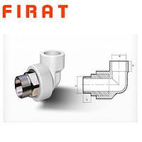 """Колено полипропиленовое с наружной резьбой под ключ (НР) Firat, 32x1"""""""