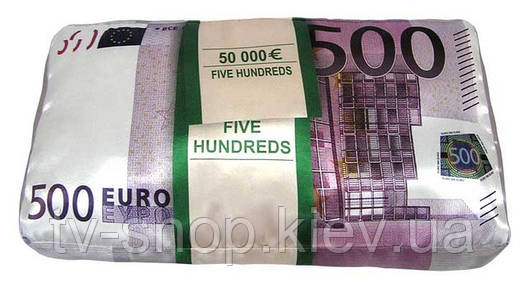 """Подушка """"500 ЕВРО"""""""