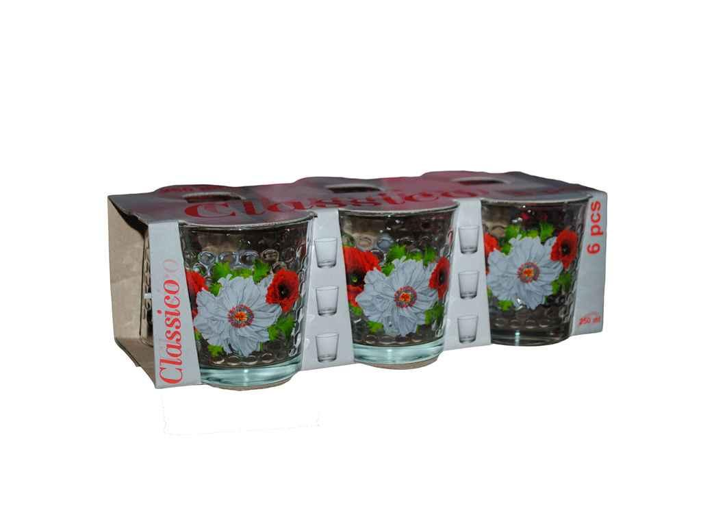Набор стаканов ОСЗ Белый мак 250 мл 6 шт