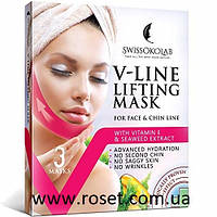 Маска бандаж для подтяжки овала лица и второго подбородка V-Line Lifting Mask (3 шт в упаковке)