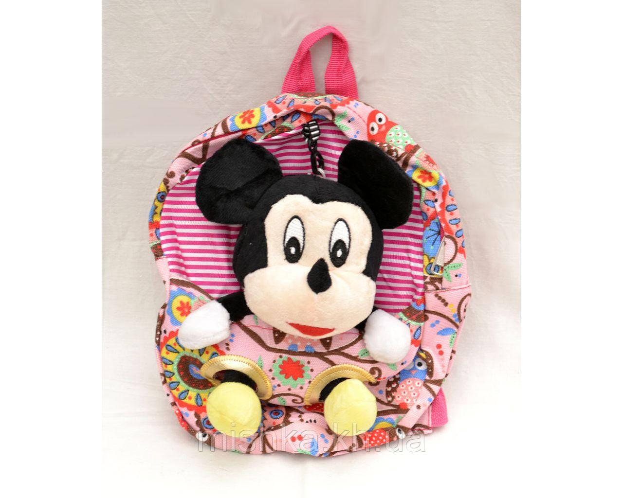 Рюкзак с мягкой игрушкой Микки Маус