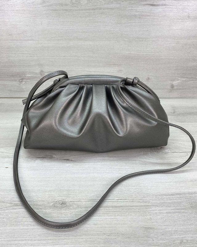 Женская сумка на плечо в стиле Bottega металлик Welassie