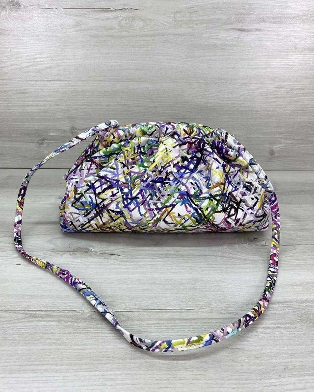Женская сумка на плечо в стиле Bottega абстракция Welassie