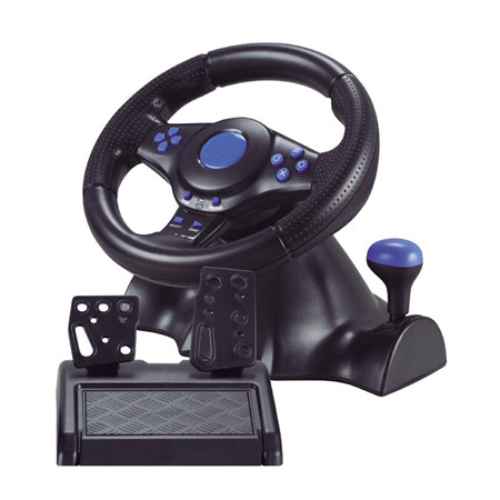 Кермо з педалями 3в1 Vibration Steering wheel Ігровий Геймпад