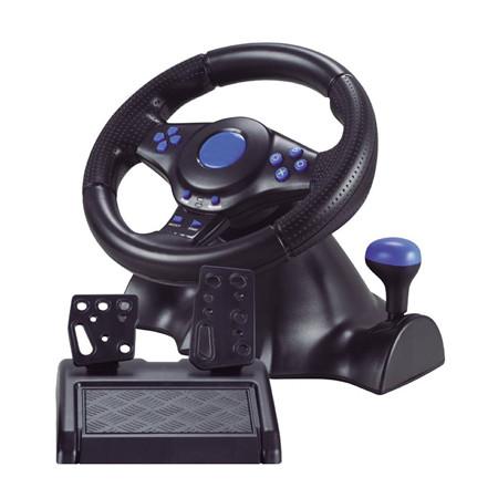 Руль с педалями 3в1 Vibration Steering wheel Игровой Геймпад