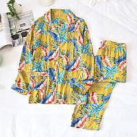 Пижама для кормящих мам Feathers Berni Fashion (M) Синий, L