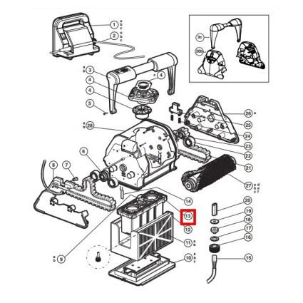 Hayward Блок мотора пылесоса Hayward QC RCX43000