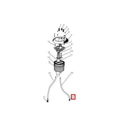 Emaux Фитинг воздушного шланга Emaux для закладной противотока EM0055 (89090117)
