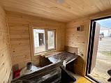 Деревянная мобильная баня 6х2,4 м под ключ, фото 5