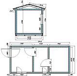 Деревянная мобильная баня 6х2,4 м под ключ, фото 10