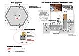 Беседка шестигранная из оцилиндрованного бревна диаметром 6 м., фото 8