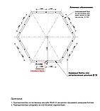 Беседка шестигранная из оцилиндрованного бревна диаметром 6 м., фото 10