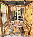 Мебель из обожженного дерева 1800х800. Браширование и обжиг мебели, фото 2