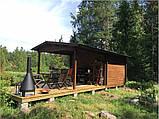 Беседка деревянная из профилированного бруса 3,6х6,2 низкая цена от производителя, фото 4