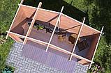 Навес деревянный из профилированного мини бруса 4,0 х 1,6, низкая цена от производителя, фото 4