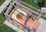 Беседка деревянная из профилированного бруса 3х4 м. низкая цена от производителя, фото 4