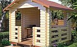 Беседка деревянная из профилированного бруса 3х3 низкая цена от производителя, фото 2