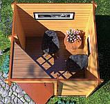 Беседка деревянная из профилированного мини бруса 2,4 х 2,4 закрытая, низкая цена от производителя, фото 4