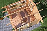 Беседка деревянная из профилированного бруса 3х3 низкая цена от производителя, фото 4