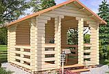 Беседка деревянная из профилированного бруса 3.5х3.5 м. низкая цена от производителя, фото 2