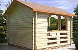 Беседка деревянная из профилированного бруса 3.5х3.5 м. низкая цена от производителя, фото 3