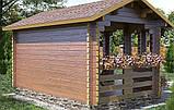Беседка деревянная из профилированного бруса 4.2х3.5 м. низкая цена от производителя, фото 2