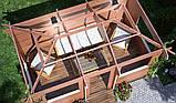 Беседка деревянная из профилированного бруса 5х3 м. низкая цена от производителя, фото 4