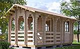 Беседка деревянная из профилированного бруса 5.2х3.2 м. низкая цена от производителя, фото 2