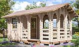 Беседка деревянная из профилированного бруса 5.2х3.2 м. низкая цена от производителя, фото 3