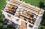 Беседка деревянная из профилированного бруса 5.2х3.2 м. низкая цена от производителя, фото 5