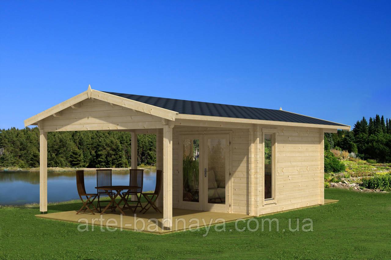 Дом деревянный из профилированного бруса 4.7х7.9 м. низкая цена от производителя
