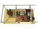 Дом деревянный из профилированного бруса 4.7х7.9 м. низкая цена от производителя, фото 2