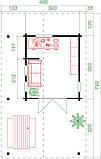Дом деревянный из профилированного бруса 4.7х7.9 м. низкая цена от производителя, фото 3