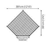 Беседка деревянная из профилированного бруса 3.8х3.8 м. низкая цена от производителя, фото 4