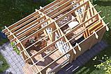 Беседка деревянная из профилированного бруса 5.6х4 м. низкая цена от производителя, фото 4